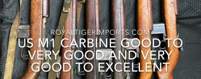 Royal Tiger Imports has brought in a WWII surplus M1 Carbine cache from Ethiopia to sell in the US.