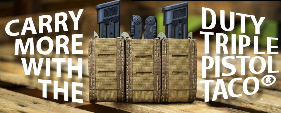 HSGI's TACO mag pouches are popular with all kinds of shooters.