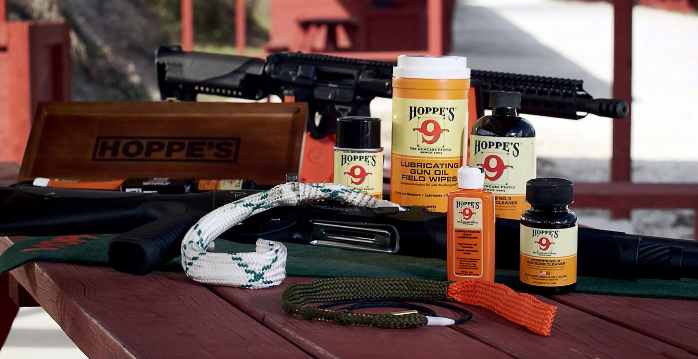 In addition to the original No. 9 formula, Hoppe's offers a full menu of gun maintenance products.