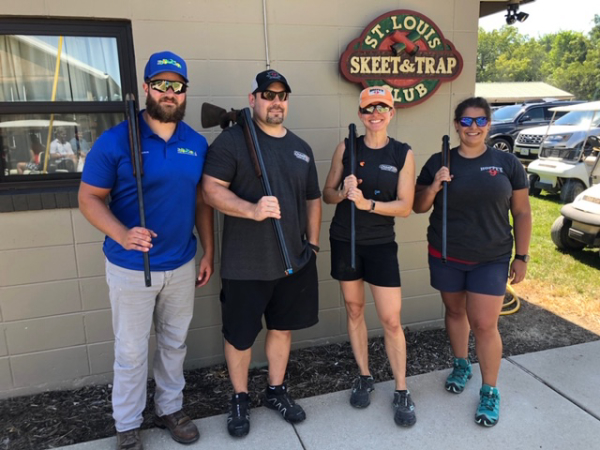 Event participants shot clays at the St. Louis Skeet and Trap Club.