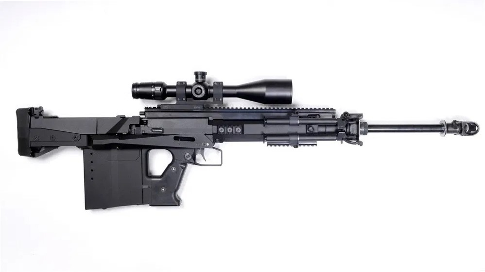 The GM6 Lynx's most distinctive features are the bullpup design and the reciprocating barrel.