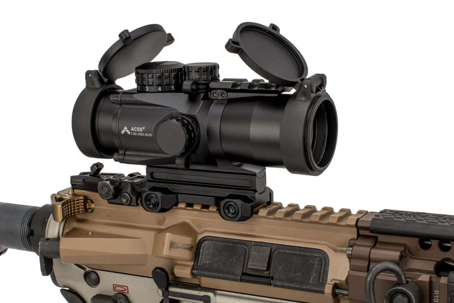 The 3x SLx is offered with PAO's ACSS 5.56 CQB-M2 chevron reticle.