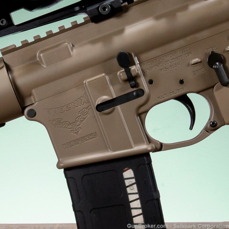 "The rifle is a special-edition version of Phoenix Weaponry's ""Jane"" model."