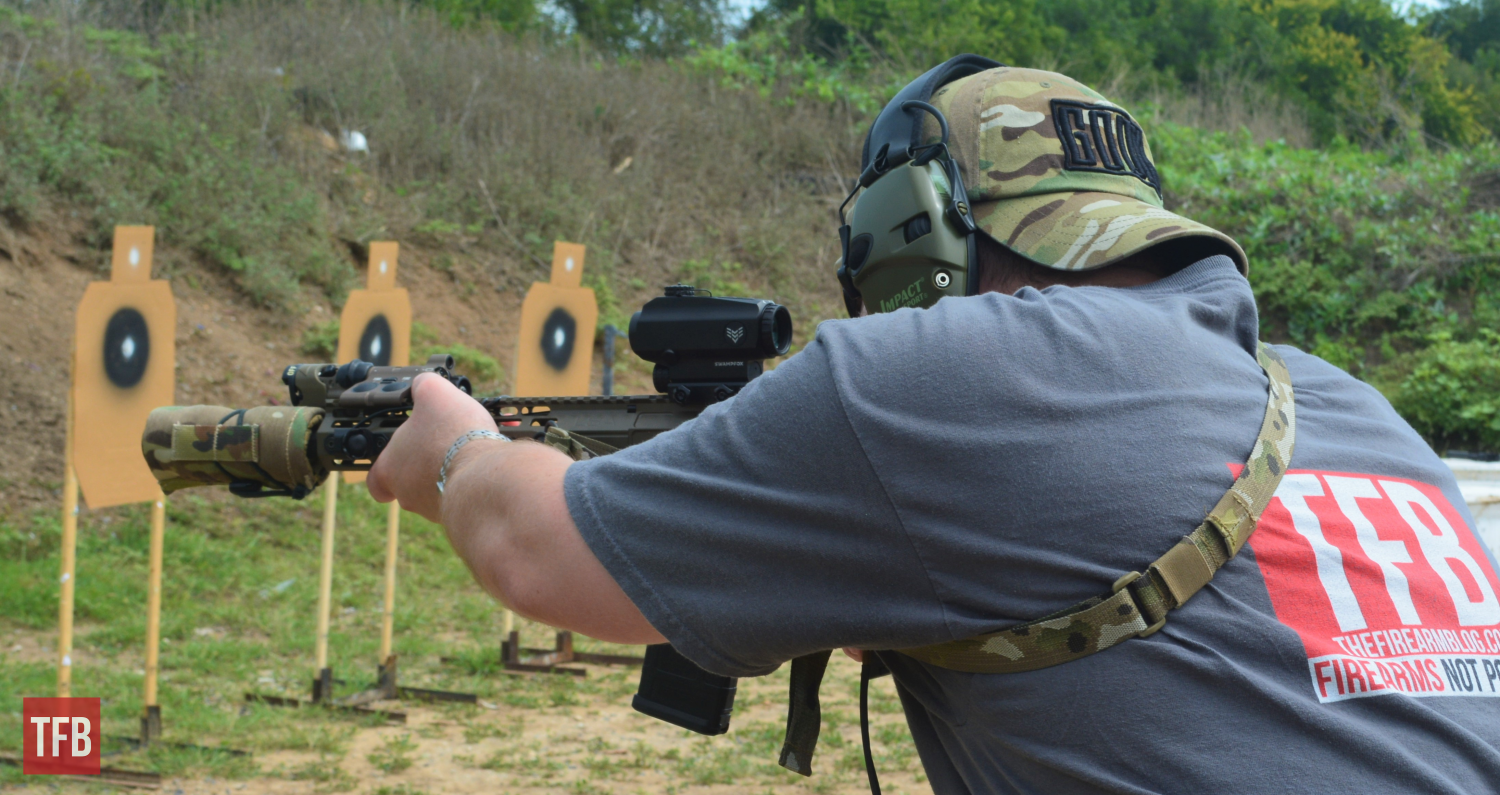 """With """"ready up""""-style drills, I found both of the Swampfox reticles to be quick and easy to get on target."""