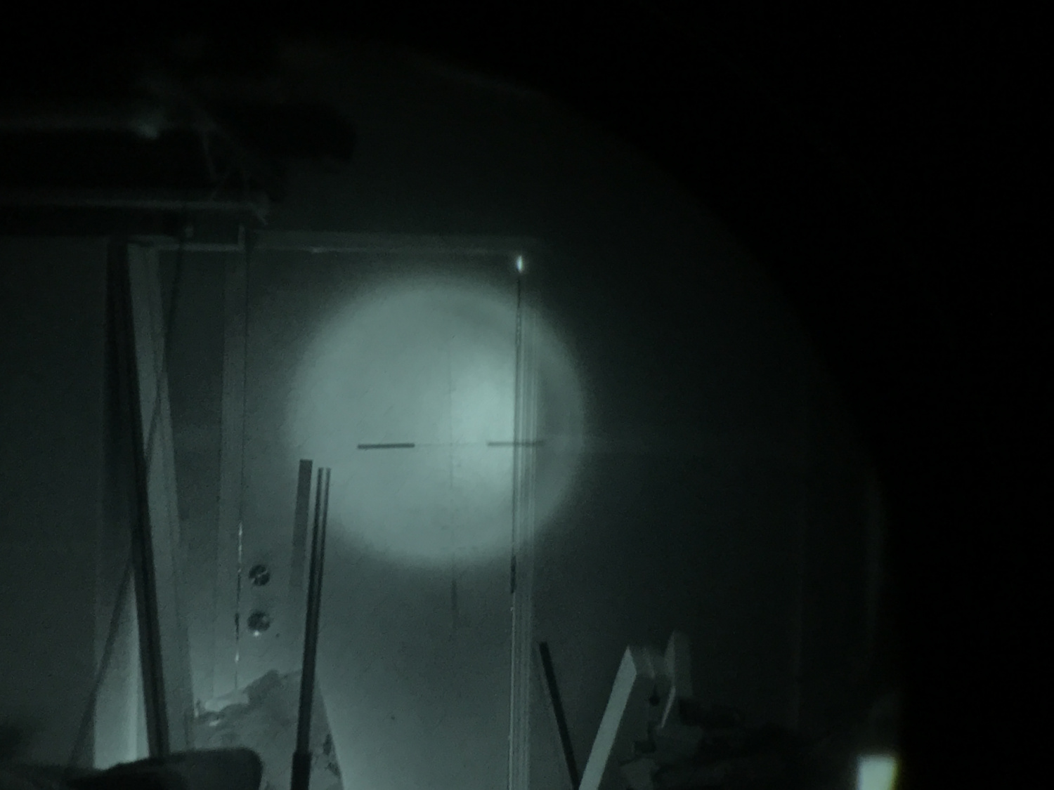 Infrared projected reticle of Elcan Spectre