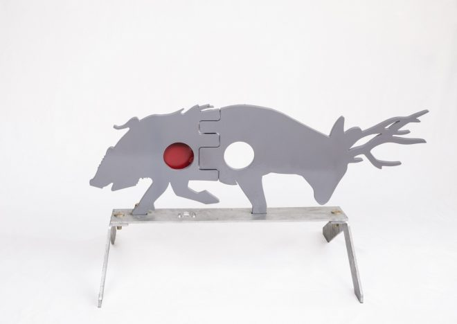 The New Grizzly Double Vital Steel Hunting Target