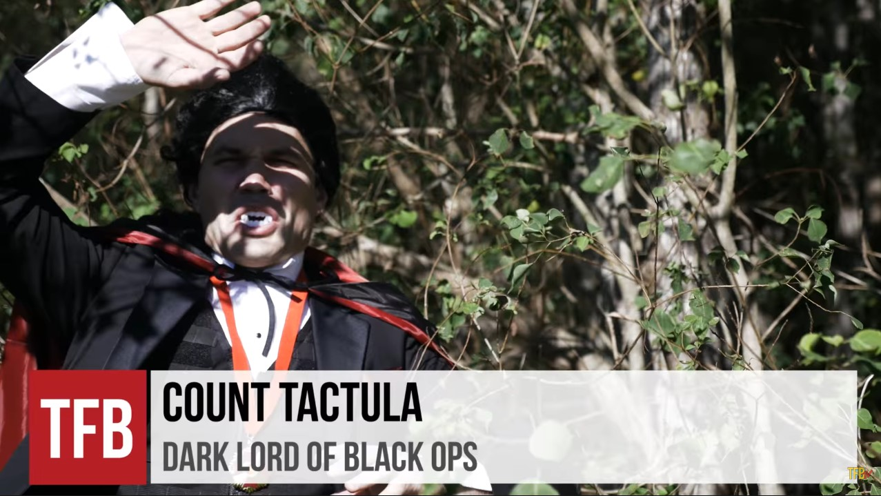 """Who can forget James as """"Count Tactula"""" from Halloween 2016? Classic Reeves."""