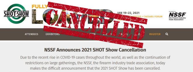 Thanks A Lot Corona: 2021 SHOT Show Cancelled