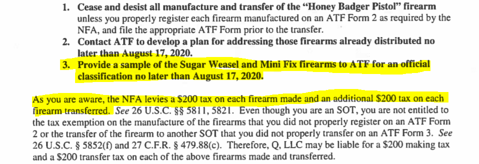 BREAKING: ATF Issues Cease & Desist for Honey Badger Pistol