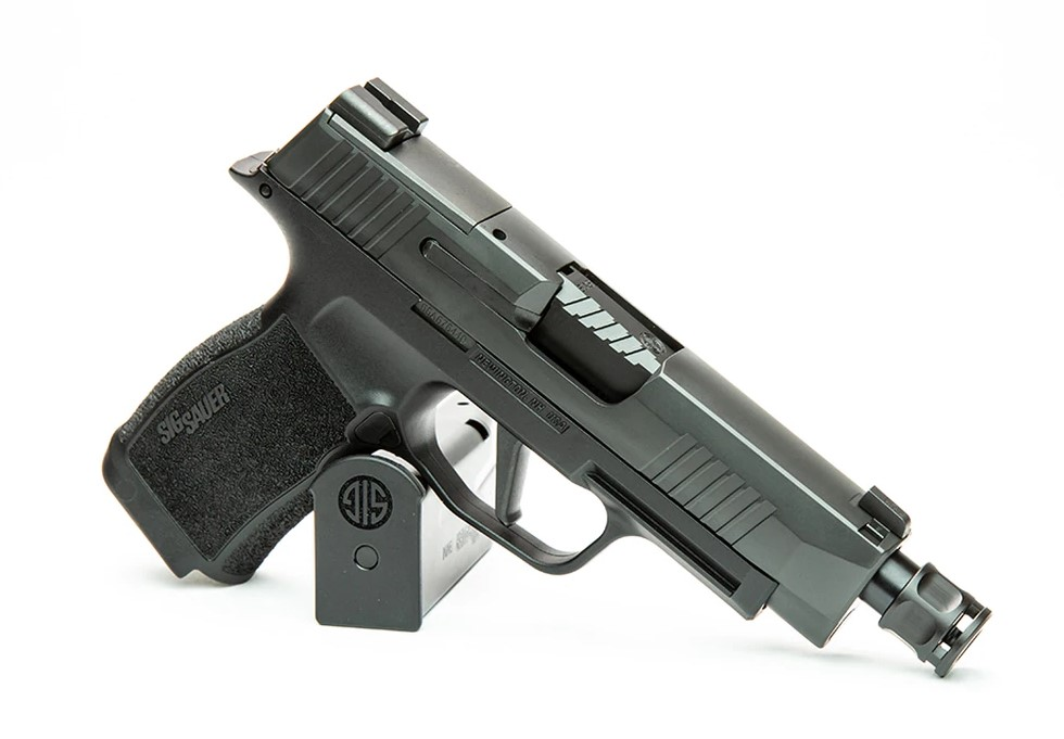 The newest member of Griffin's ATM barrel family, at home in its SIG Sauer P365XL.