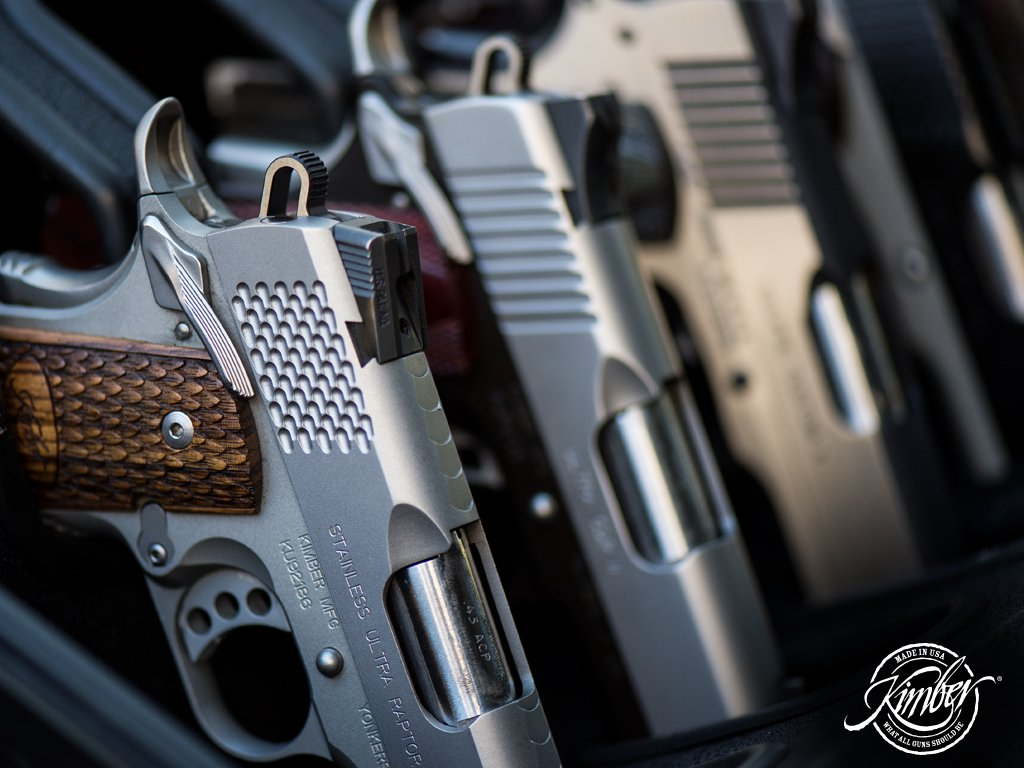 Although Kimber is most famous for their 1911s, like those shown here, they also offer some other handguns and a family of bolt-action rifles.