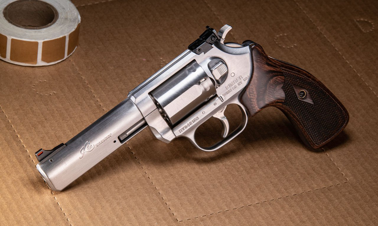 One of Kimber's other product lines includes this stainless K6S Target revolver.