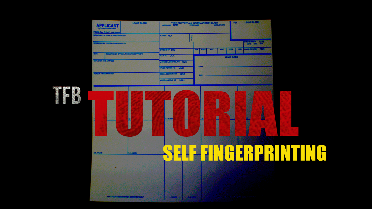 How To Fingerprint Yourself For NFA Applications -The Firearm Blog