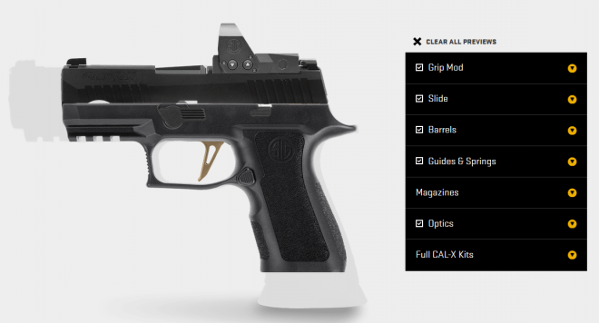 The New SIG P320 Custom Works Configurator is Live