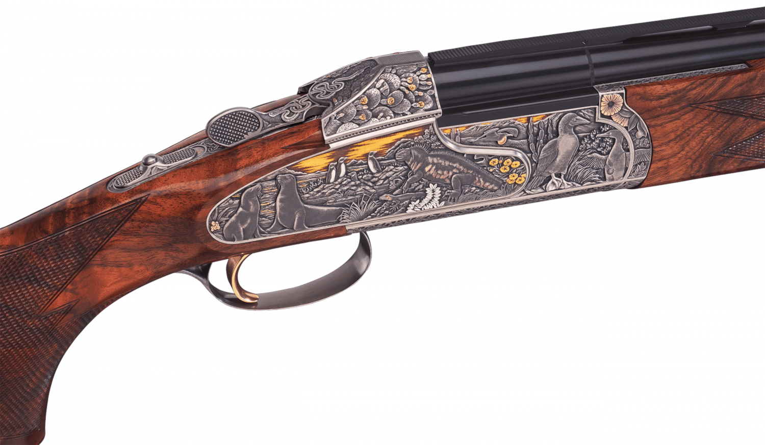 This Gun of the Year is adorned with images of Galapagos' native flora and fauna.