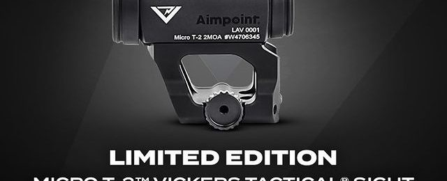Aimpoint Releases Vickers Tactical Limited-Edition T-2 Red Dot