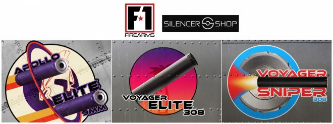 F-1 Firearms has a new line of suppressors, and three models are now available from Silencer Shop.