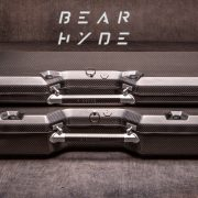 Bear Hyde gun cases are made from carbon fiber, chosen for its ultralight properties.