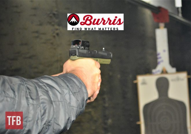 Burris Optics came to GunFest to discuss three of their red dots, including the FastFire 4 pictured here.
