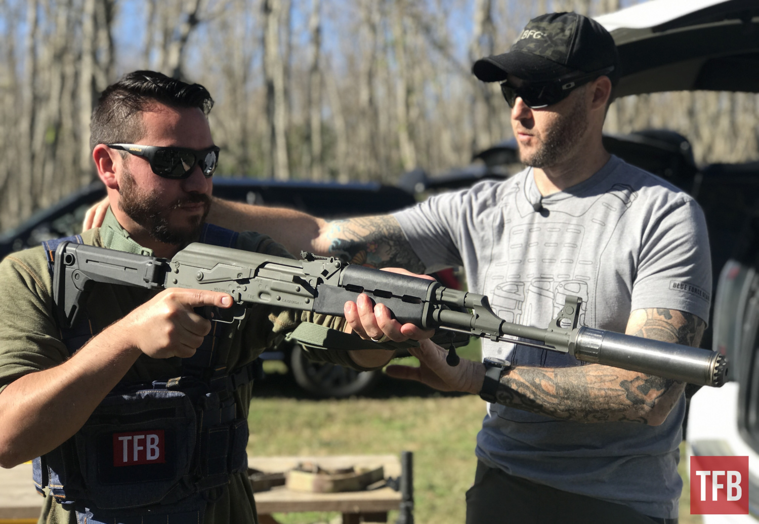 Chris Sizelove (right), Blue Force Gear's Director of Training, brought a wealth of expertise to share with us in this class at GunFest 2021.
