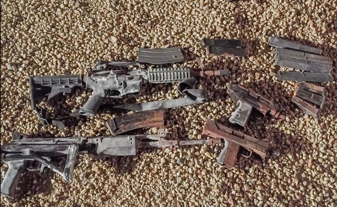 Phoenix Homeowners find Hidden Stash of Guns Buried