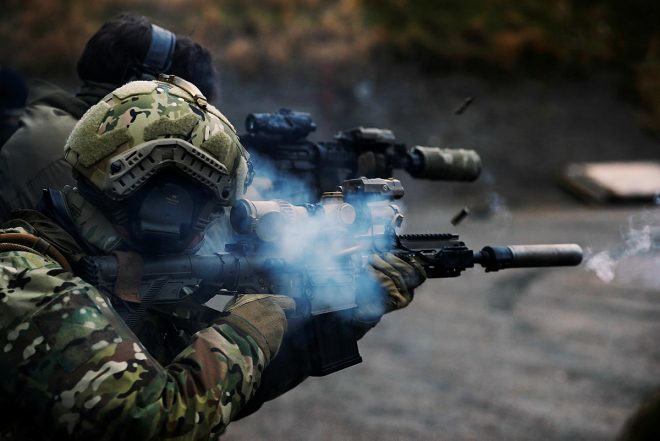 Norwegian Naval Special Operation Commando with HK417