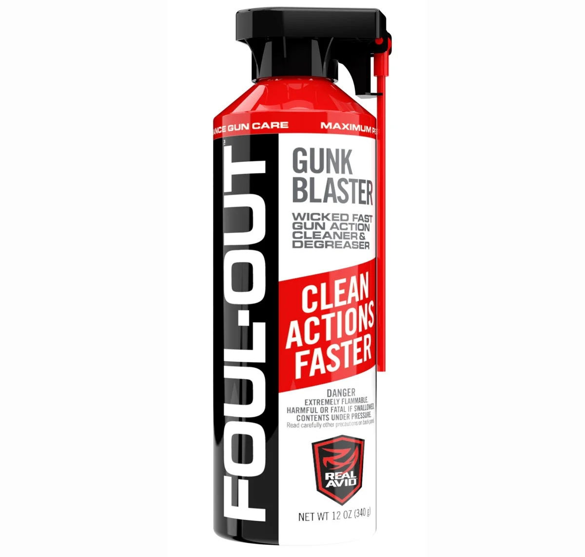 Introducing Foul-Out Gunk Blaster Cleaner/Degreaser from Real Avid