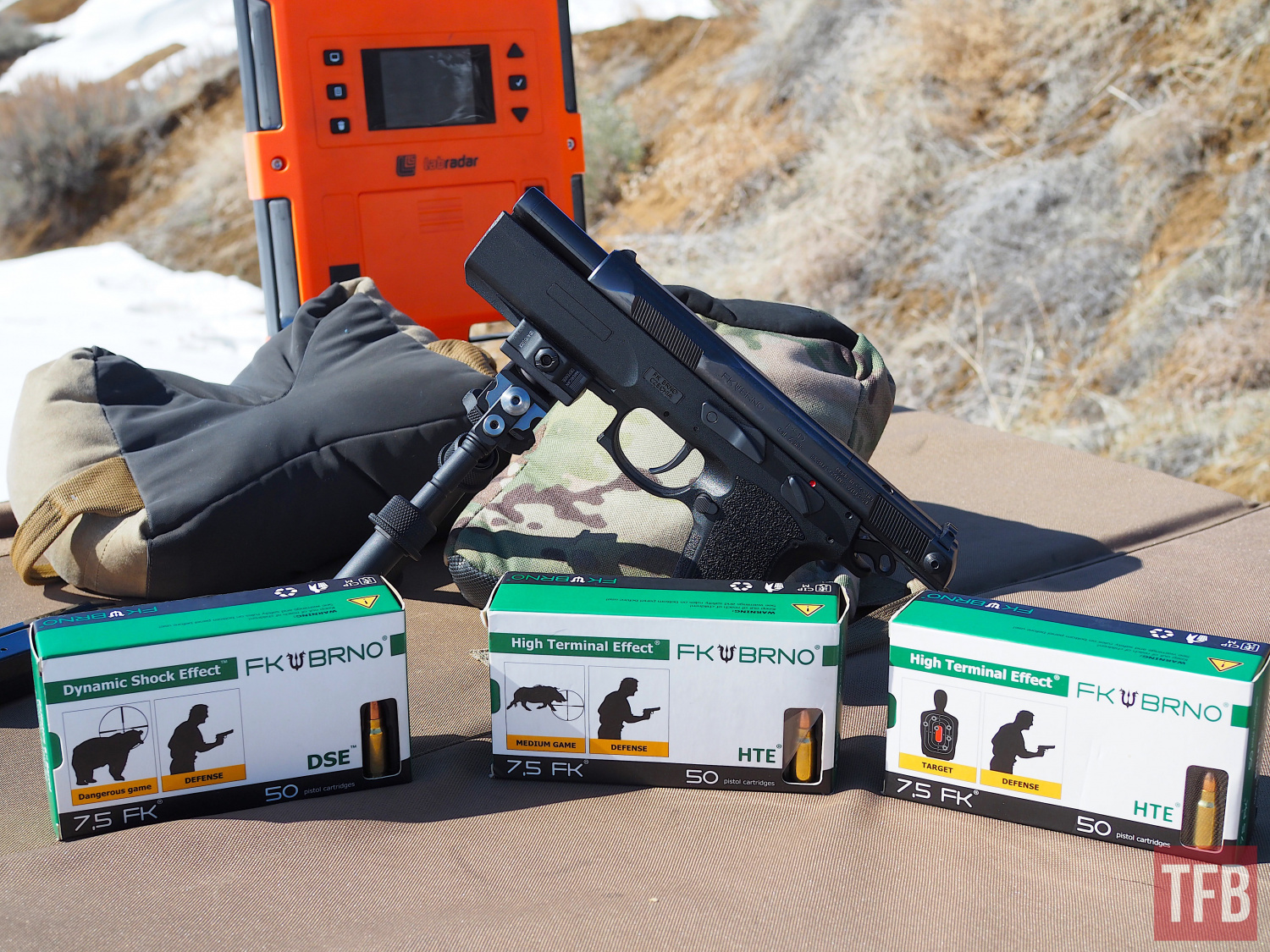 Labradar results showed serious power and velocity with all loads. The FK Brno PSD is a handgun with the power of a rifle.