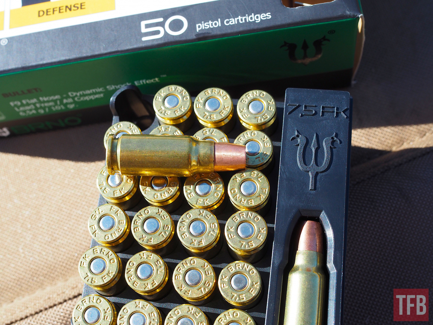 FK Brno's new F9 Dangerous game solid copper 101gr ammo