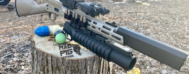 """Mad Pig Customs has taken their modernized lever-action game to the next level, with this 3-stamp """"Fudd Breaker""""."""