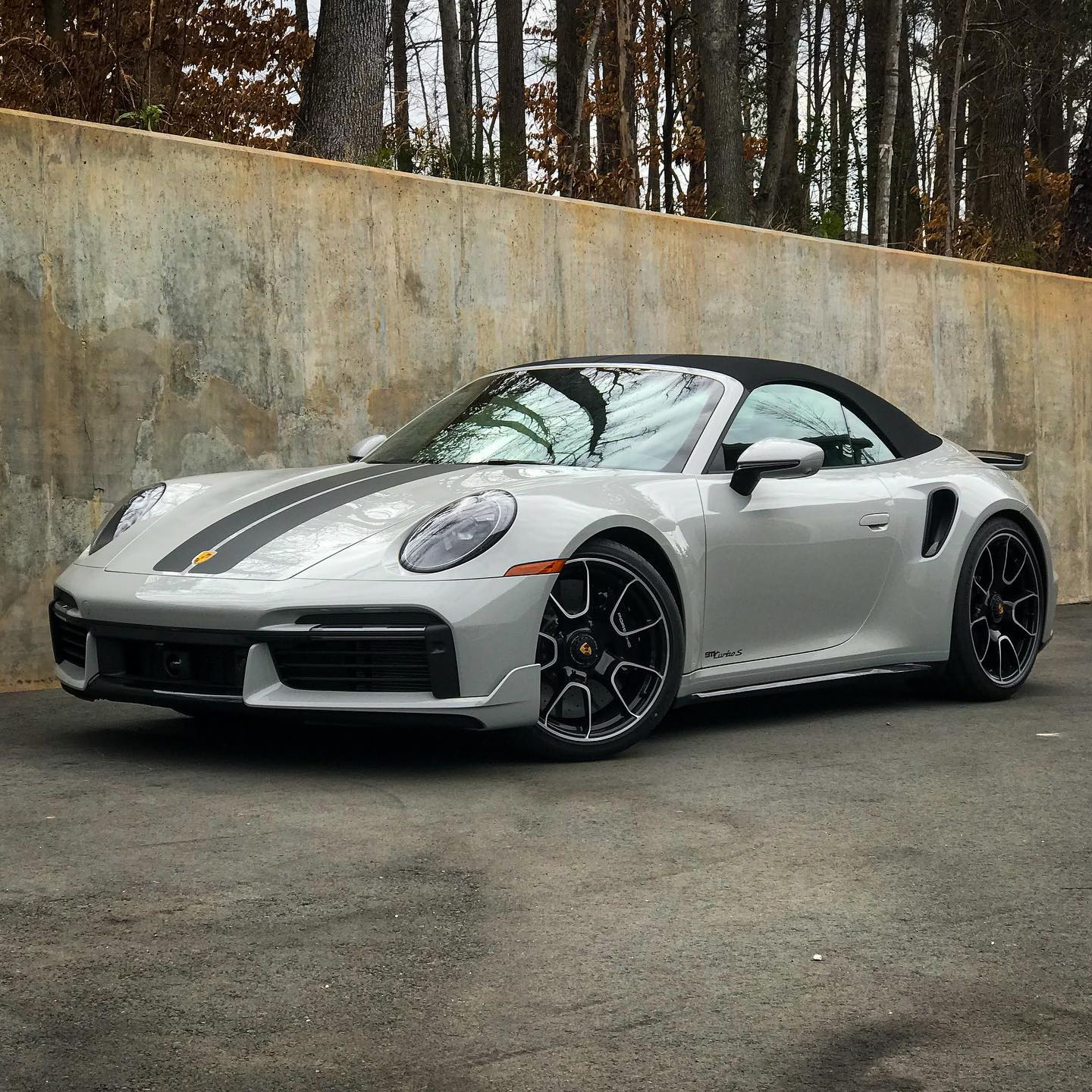 """Vickers recently shared photos of his new Porsche 992 Turbo S Cabriolet, shown here, on his social media. He called the car """"...a great way to improve your mood during chemotherapy!"""" Fair enough!"""