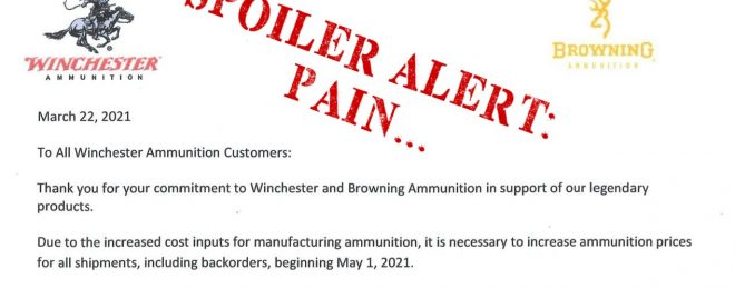 If you were hoping for ammo prices to come back down anytime soon, bad news...