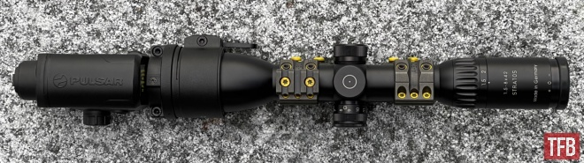 POTD Pulsar Thermal Clip-Ons and Thermal Sight on a Blaser R8 (1)