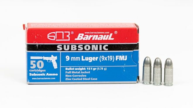 Barnaul Ammunition has released a new subsonic 9mm ammo choice.