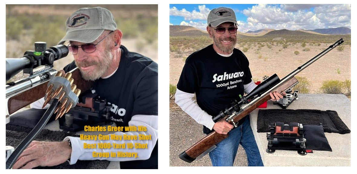 """Mr. Greer with the .300 WSM """"Heavy Gun"""" category rifle that allowed him to set this (pending) 1000-yard record."""