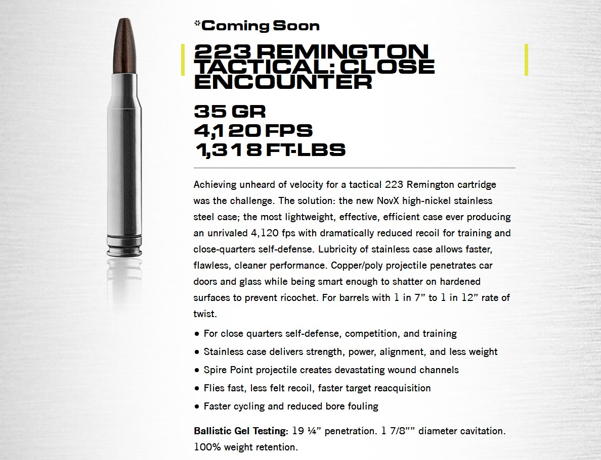 9mm is only the first of multiple planned calibers, including some .223 food for your favorite AR-15s.