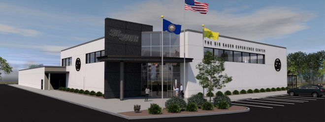 Ground has been broken on the new SIG SAUER Experience Center near Epping, New Hampshire.