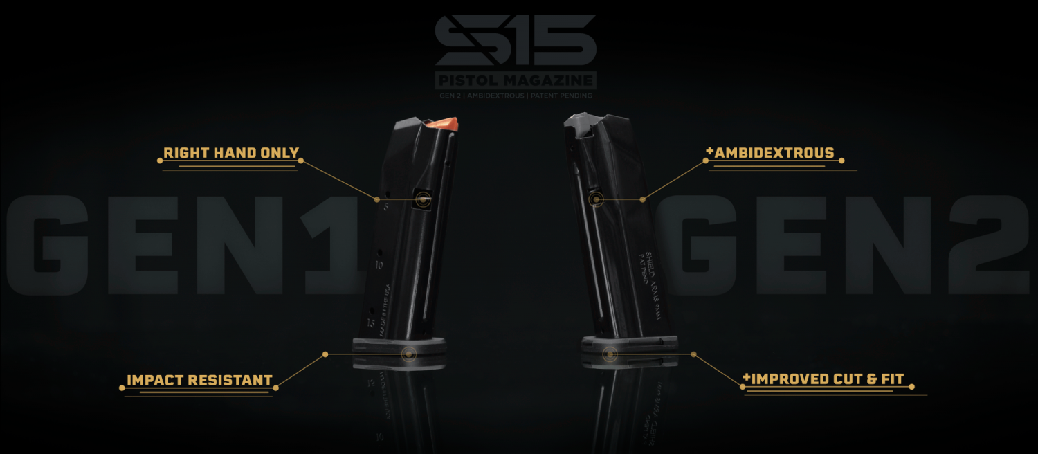 Shield Arms Drops the New Gen 2 S15 Ambidextrous Magazine