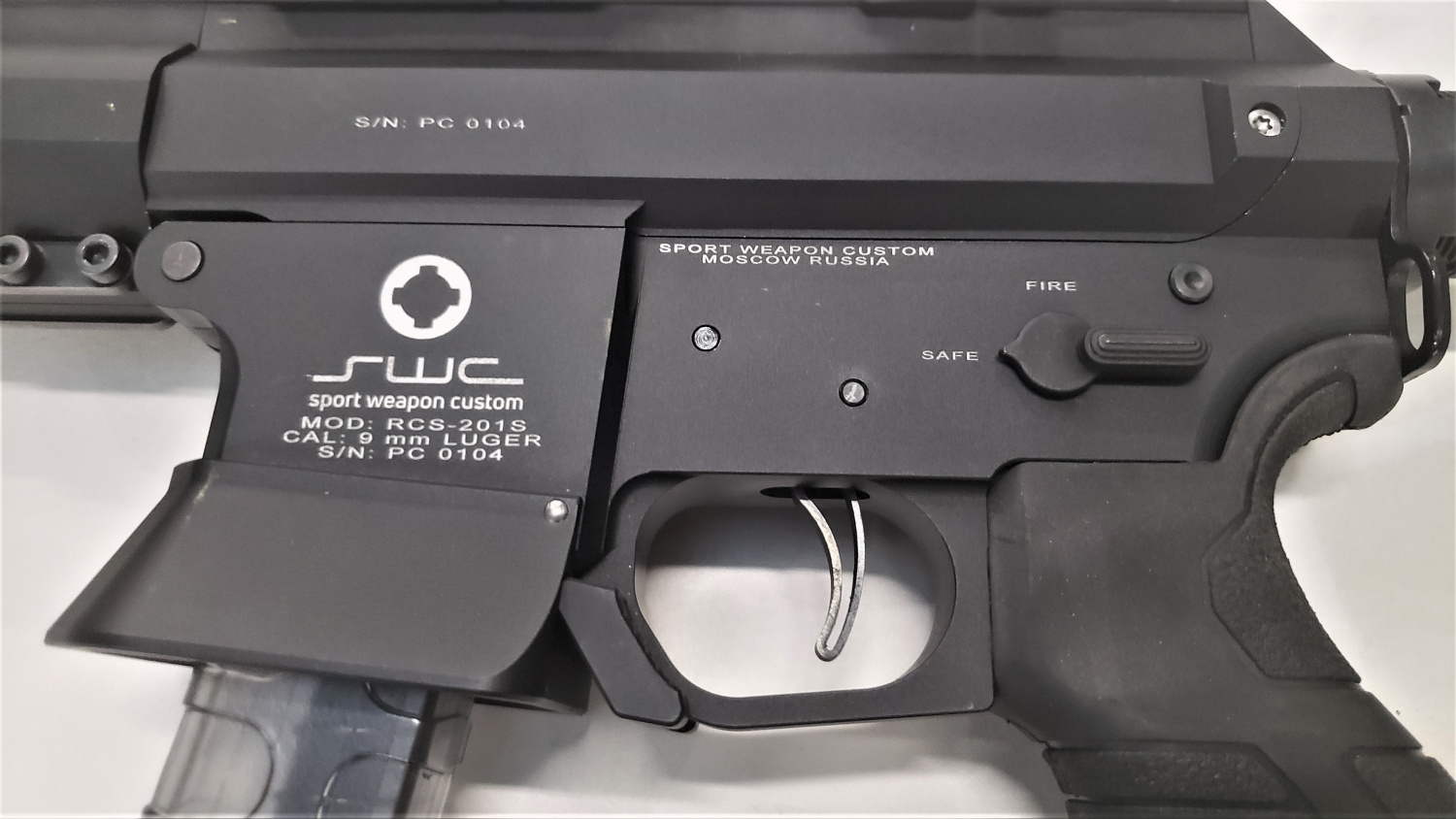 Mag release levers on the trigger guard