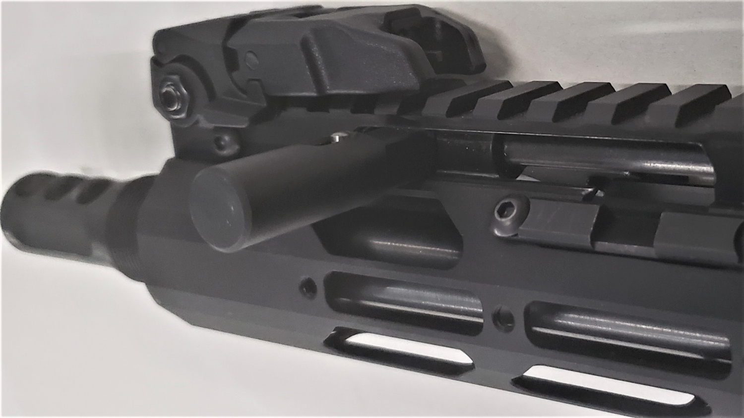 Charging handle in the forward position