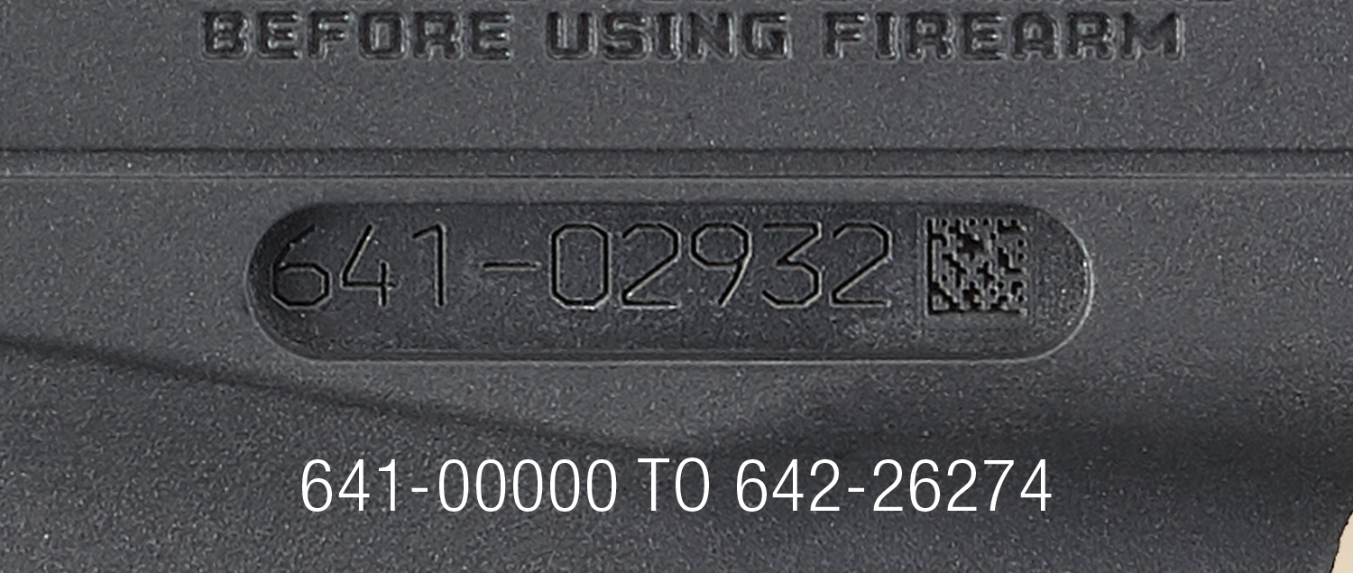 Only Ruger-57 pistols up to serial number 642-26274 may be affected. If your gun's number is above that, you should be good to go.