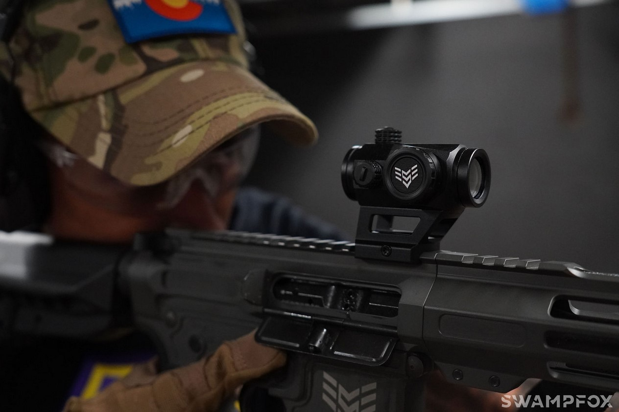 This red dot is designed to be versatile enough to be mounted on a wide variety of firearms, from ARs to subguns to shotguns and more.