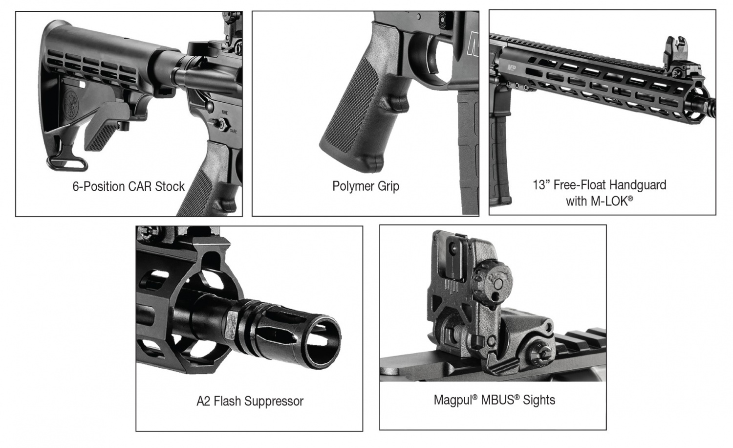 This SBR will include mostly standard features, like the issued-style A2 birdcage muzzle device, grip, and stock pictured here.