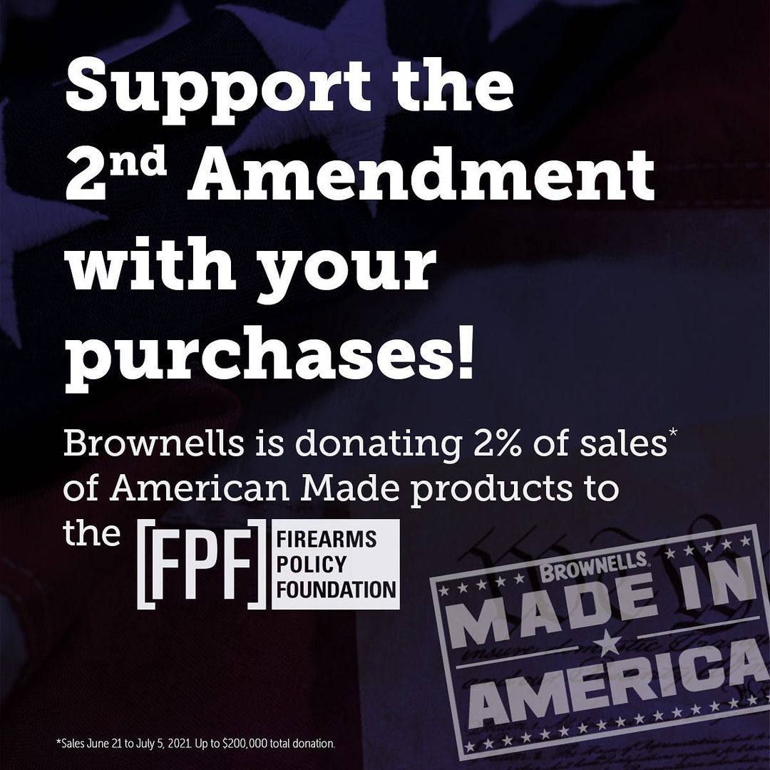 Brownells to Donate a Portion of Sales to the Firearms Policy Foundation