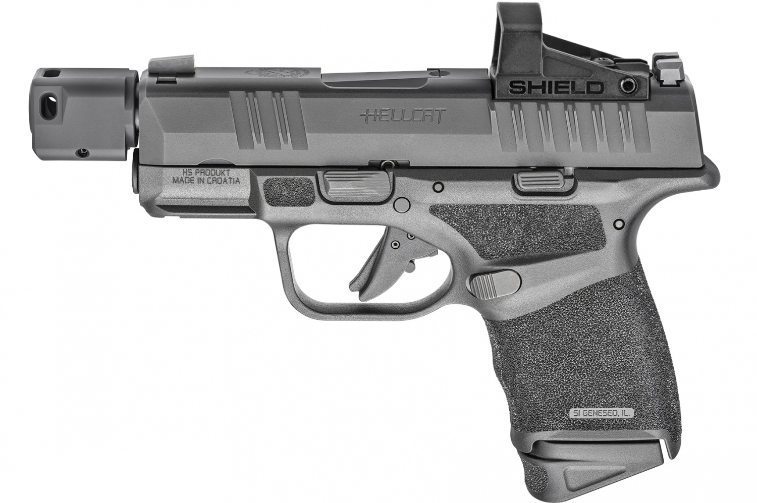 In case you're like me and don't prefer the Hex red dot, Springfield sells Hellcat RDPs that come with a Shield SMSc optic installed instead.