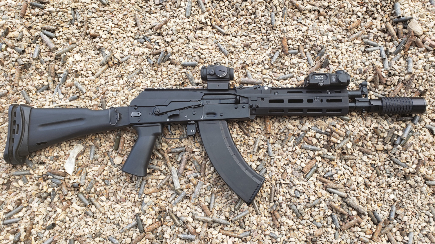 Author's personal AK carbine with Sureshot Armament MK3 Chassis