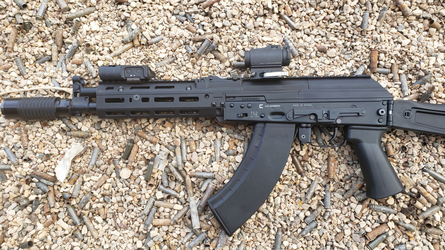 Author personal AK carbine with Sureshot Armament MK3 Chassis.