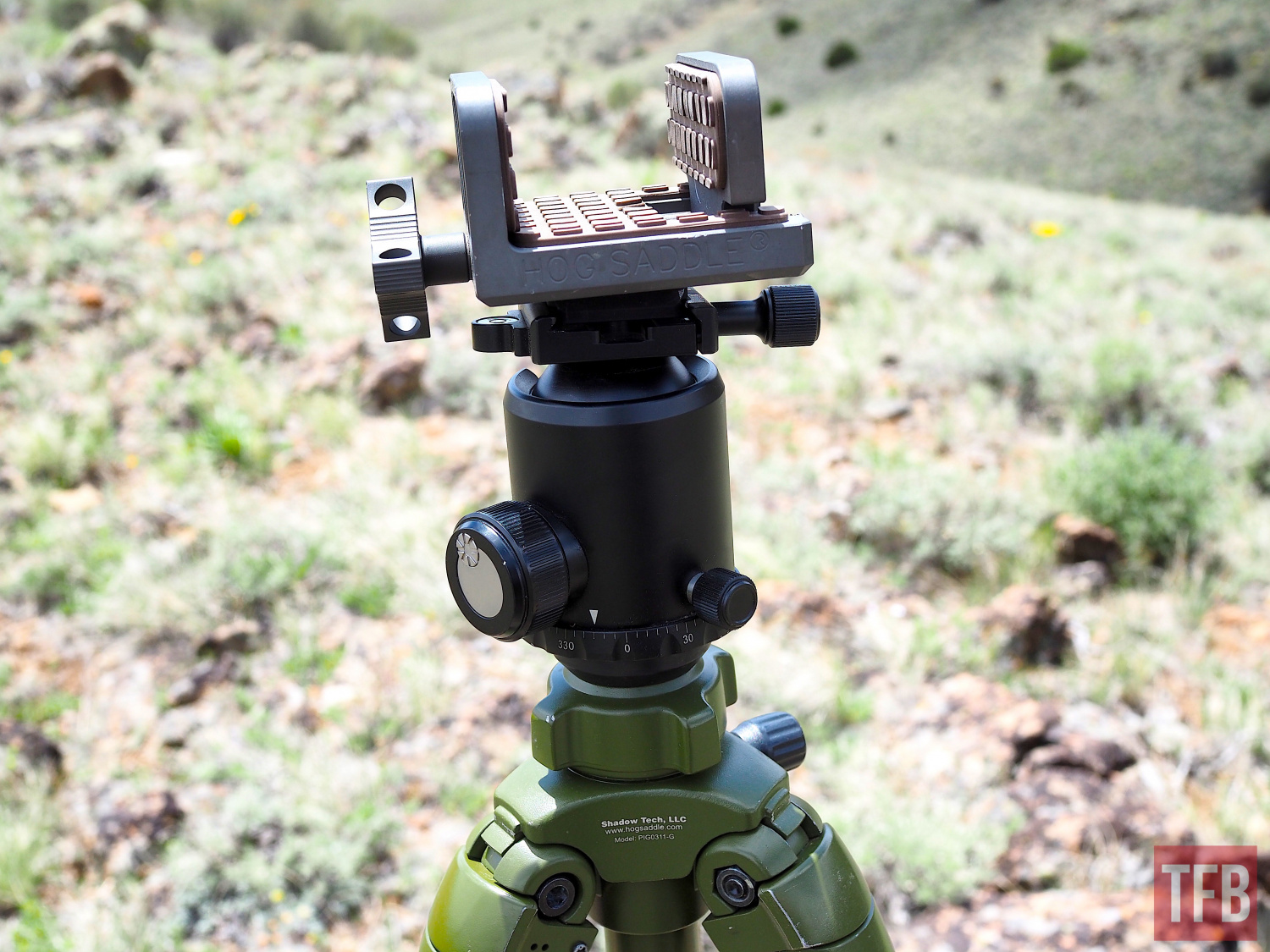 Shadow system's excellent Hog Saddle, ball head, and tripod