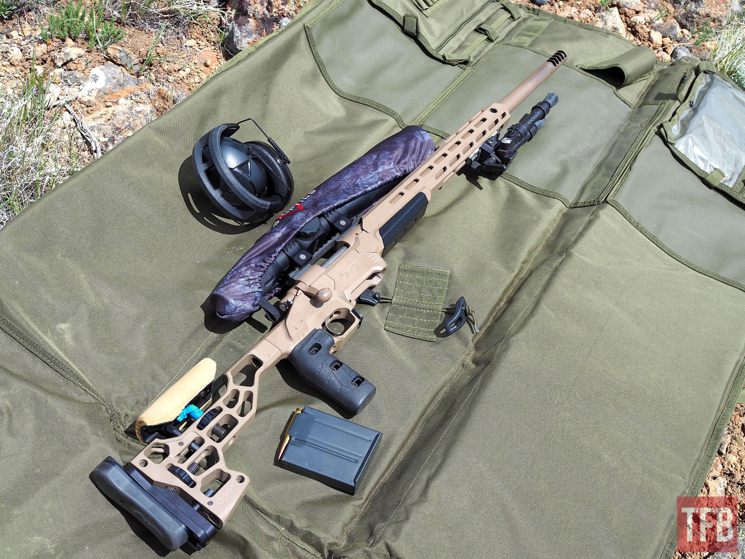The instructor's custom rifle w blueprinted action, MDT chassis and palma profile barrel