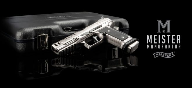 Walther has released the fourth Q5 Match SF model in the upscale Meister Manufaktur series: the Black Tie.